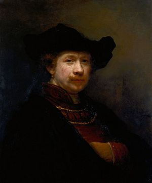 Self-portriat by Rembrandt