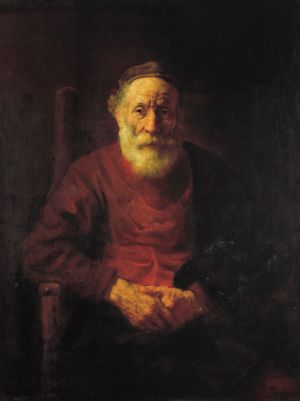 An Old Man in Red by Rembrandt