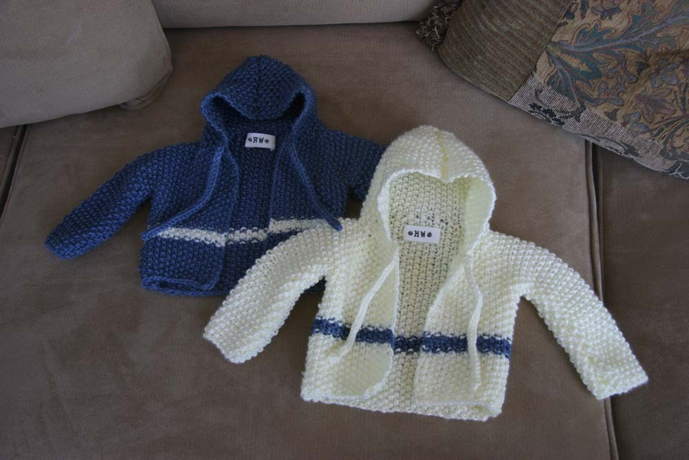 Hooded Baby Cardigan Holly West