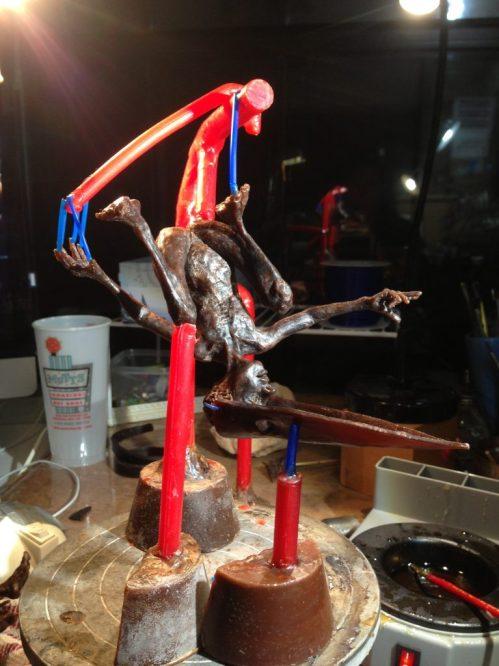 Holly Wilson-SWAIA 2013-wax sprued figure Belonging