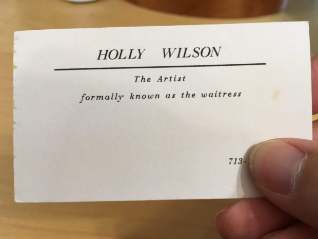 Holly Wilson Business Card from Houston