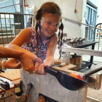hotglass3 Hollywood Lakes resident shares love of glassblowing with the community