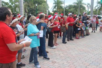 christmasnearthebeach Carolers from the community kick-off annual Christmas Near the Beach event