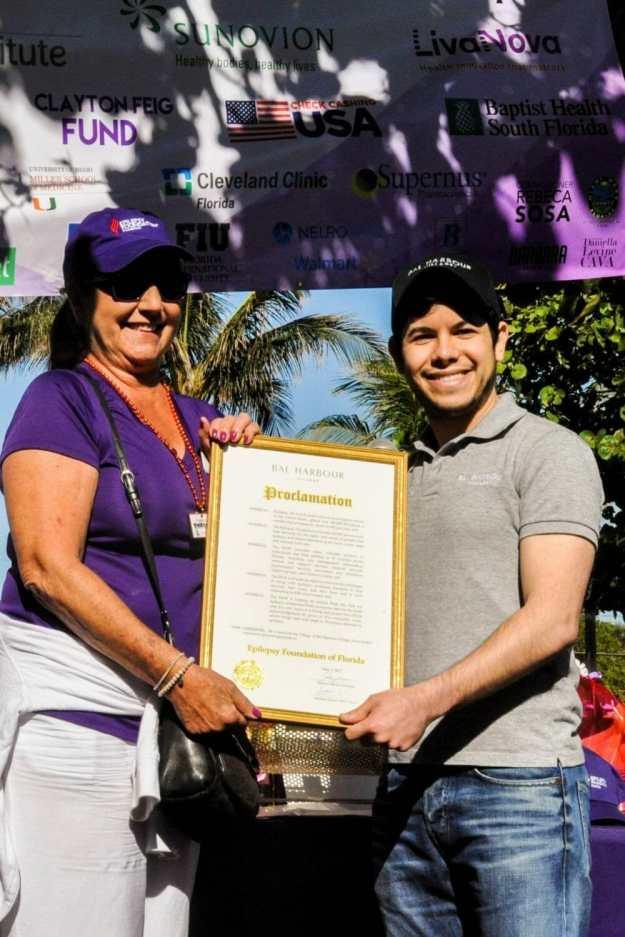 Broward-Karen-Egozi-Seth-Salver Over 800 participants 'walk the talk' for the Epilepsy Foundation on Hollywood Beach