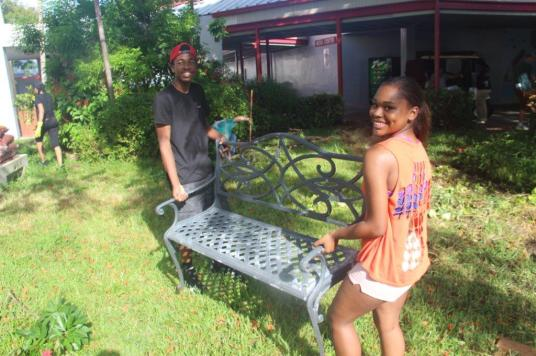 IMG_4247 South Broward High's Reading Garden offers serenity, project for students