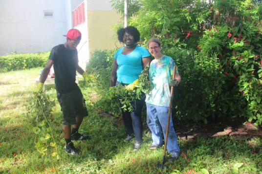 IMG_4250 South Broward High's Reading Garden offers serenity, project for students