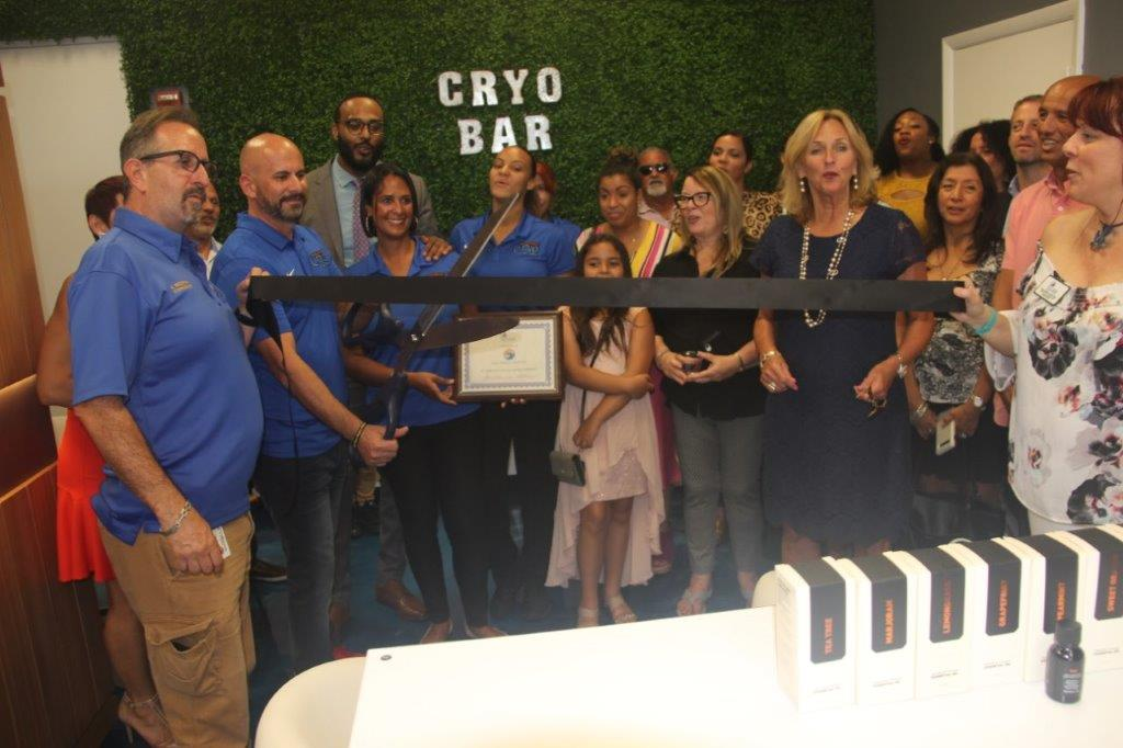 Hollywood cryo spa has ribbon cutting