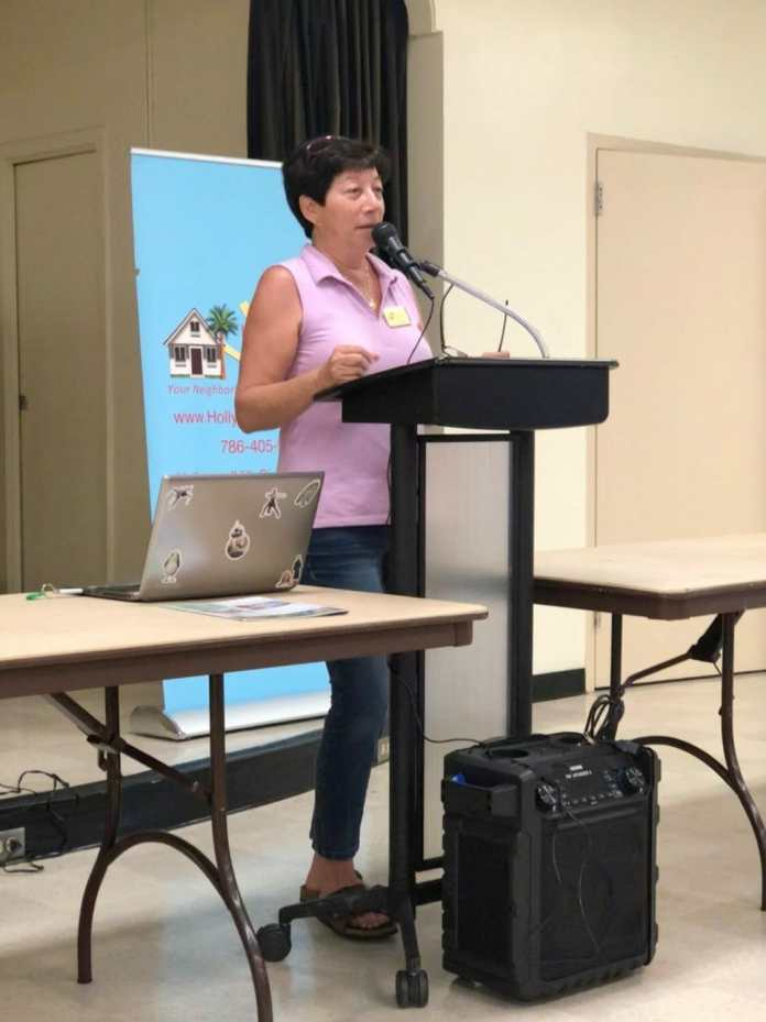Hollywood Hills Civic Assn president Pam Burgio