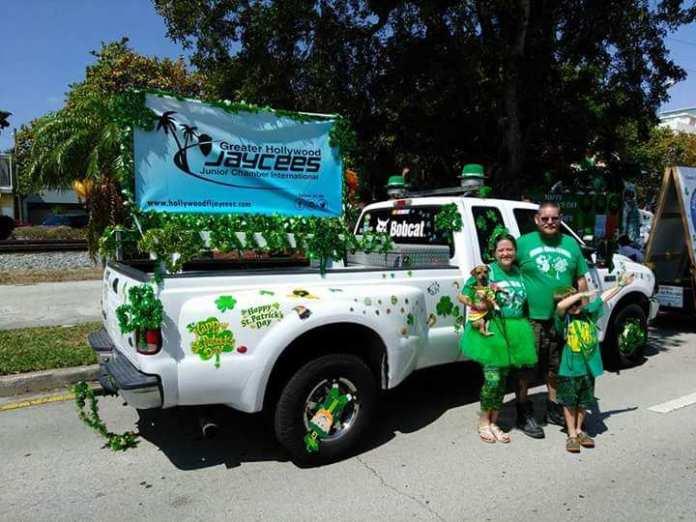 The Mahar family for the St. Patrick's Day Parade