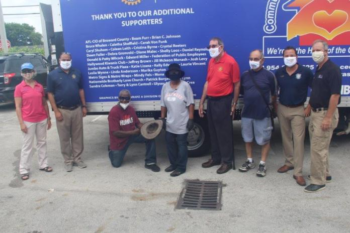 Hollywood Rotary Club donates truck to Community Enhancement Collaboration