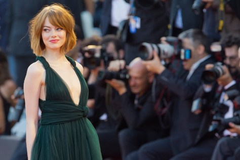 Emma Stone in Venice for Birdman - she'll be back this year for La La Land.