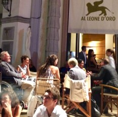 The Al Leone D'Oro sidewalk cafe on the Lido grounds at the 73rd Venice International Film Festival. (Photo credit: Larry Gleeson/HollywoodGlee)