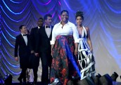 PALM SPRINGS, CA - JANUARY 02: Actors Octavia Spencer, Janelle Monae, Glen Powell, Mahershala Ali and Jim Parsons onstage at the 28th Annual Palm Springs International Film Festival Film Awards Gala at the Palm Springs Convention Center on January 2, 2017 in Palm Springs, California. (Photo by Charley Gallay/Getty Images for Palm Springs International Film Festival)
