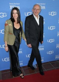 SANTA BARBARA, CA - FEBRUARY 03: Lisa Loiacono and actor Christopher Lloyd at the Virtuosos Award Presented By UGG during The 33rd Santa Barbara International Film Festival at Arlington Theatre on February 3, 2018 in Santa Barbara, California. (Photo by Alison Buck/Getty Images for SBIFF)