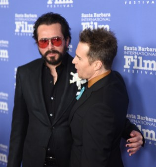 Roger Durling, Executive Director of the Santa Barbara International Film Festival (SBIFF) poses with actor Sam Rockwell, the recipient of the SBIFF American Riviera Award, February 7th, 2017. (Photo credit: Larry Gleeson/HollywoodGlee)