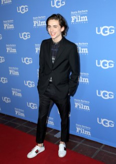 SANTA BARBARA, CA - FEBRUARY 03: Actor Timothee Chalamet at the Virtuosos Award Presented By UGG during The 33rd Santa Barbara International Film Festival at Arlington Theatre on February 3, 2018 in Santa Barbara, California. (Photo by Alison Buck/Getty Images for SBIFF)