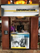 The Information booth inside the Sundance Film Festival Headquarters at the Park City Marriott on January 23, 2019, in Park City, Utah, the day before the opening of the 2019 Sundance Film Festival. (Photo credit: Larry Gleeson/HollywoodGlee)