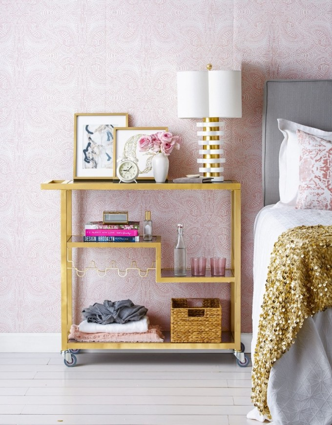 gold accents Bed Lamp