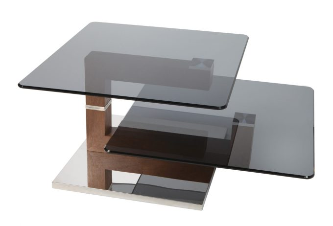 Square Coffee Table with Glass