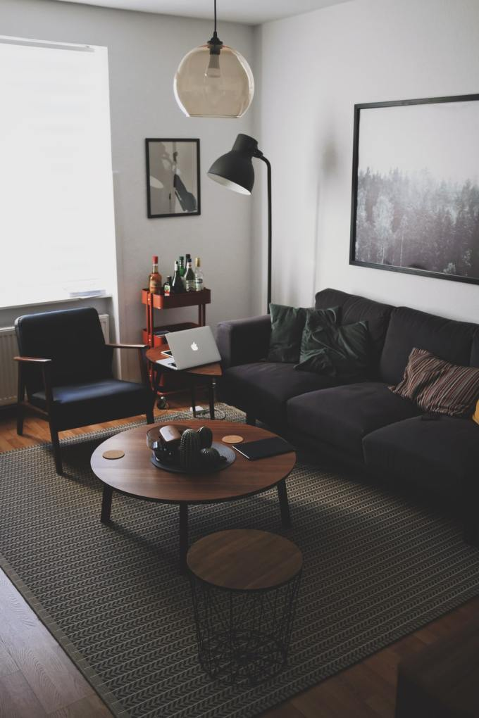 Mid Century Modern Coffee Table at Small Space