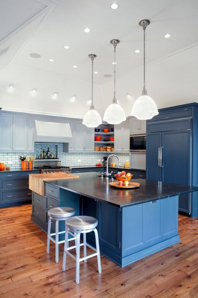 Blue Island in The Kitchen Recessed Lighting