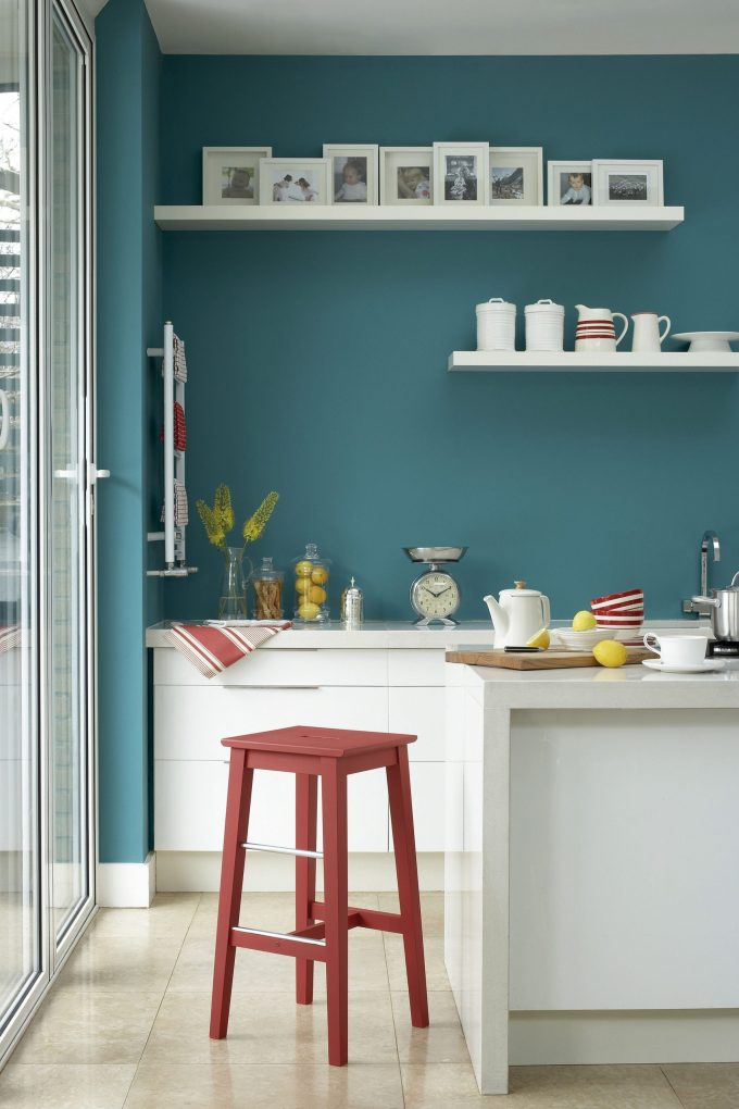 Teal Kitchen Decor on the Wall
