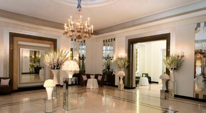 Dit Is Het Zaaltje In Het Londense Claridge Hotel Waar