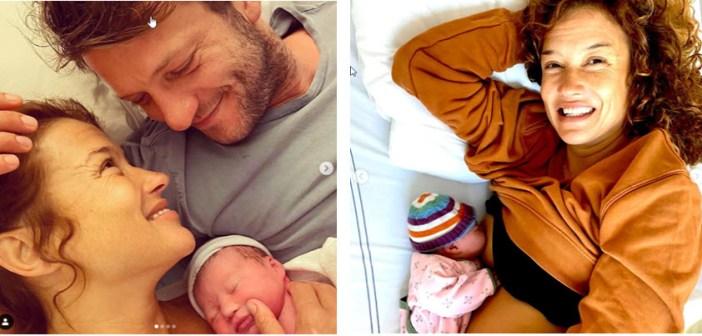 FOTO'S! Trotse Katja: 'Ze is er! Om 6.02 uur is Coco Loulou geboren. Ze is betoverend'