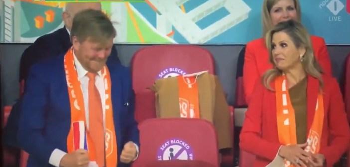 Bij juichende Willem-Alexander misprijzend kijkende Máxima  trending op twitter