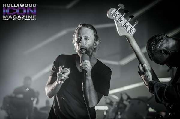 Flea and Thom Yorke from Atoms For Peace rock the Santa Barbara Bowl.  Photo: JB Brookman