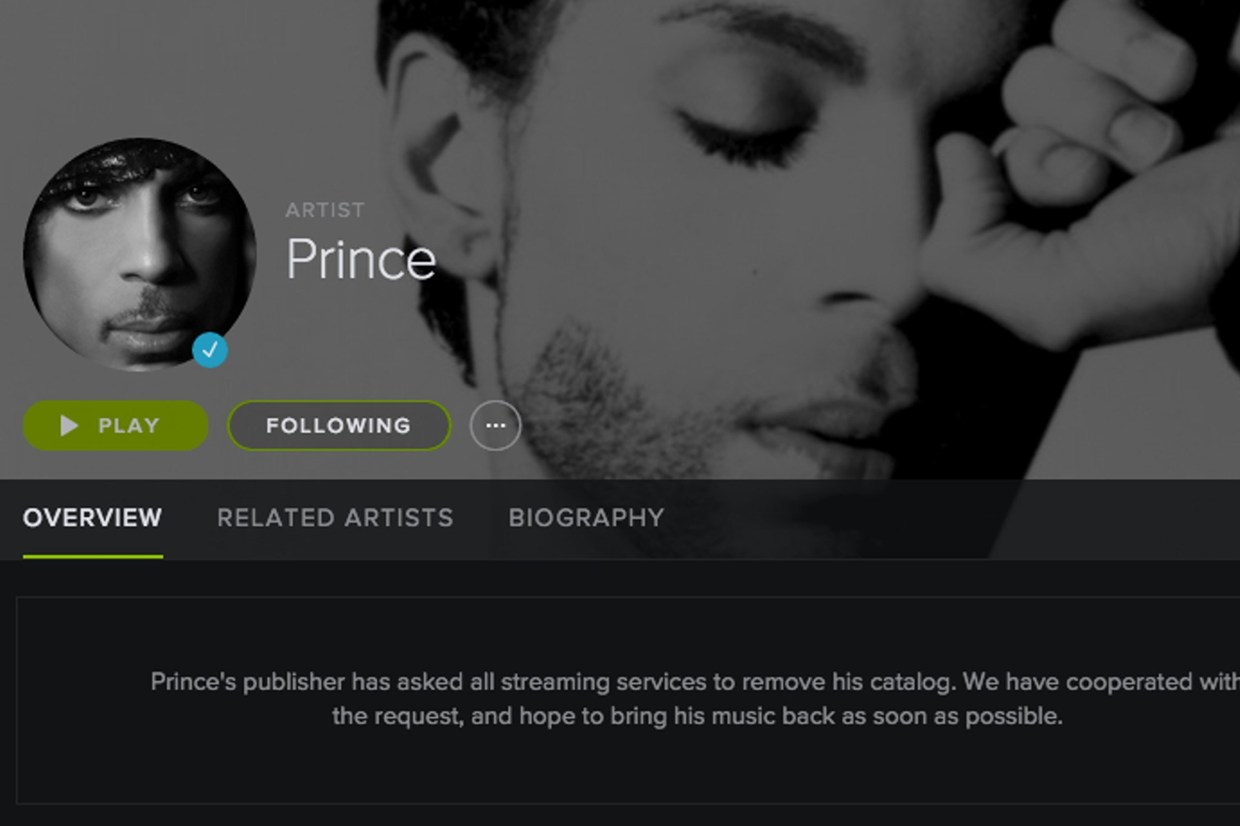 Prince's Entire Music Catalog Returns to Spotify and Other Streaming Services Today