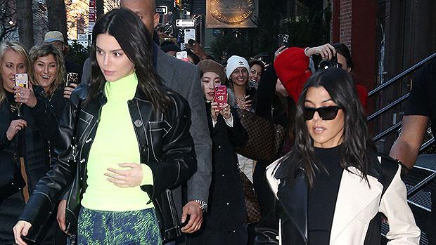 Kendall Jenner Wears Crop Top & Kourtney Kardashian Wears Black Mini – Gadget Clock