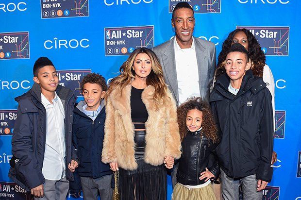 Larsa & Scottie Pippen with their kids