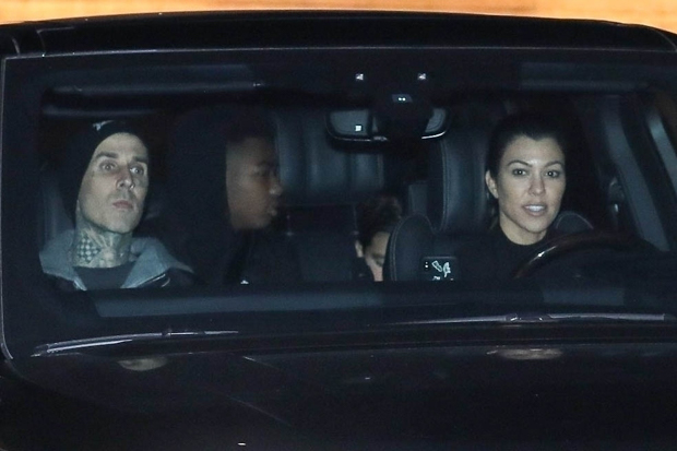 Malibu, CA - **FILE PHOTOS** *EXCLUSIVE* - More than friends? Kourtney Kardashian and Travis Barker spent time together on Friday, January 22, lounging by the pool at Kris Jenner's Palm Springs, California, home. Pictured Here: Kourtney Kardashian and Travis Barker seem to truly be enjoying each others company as the pair is seen out and about in Malibu. **SHOT ON 18 FEBRUARY 2019** Pictured: Kourtney Kardashian, Travis Barker BACKGRID USA 24 JANUARY 2021 USA: +1 310 798 9111 / usasales@backgrid.com UK: +44 208 344 2007 / uksales@backgrid.com *UK Clients - Pictures Containing Children Please Pixelate Face Prior To Publication*