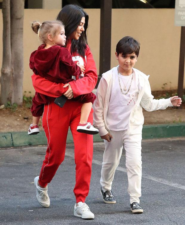 Kourtney Kardashian and sons Mason Disick