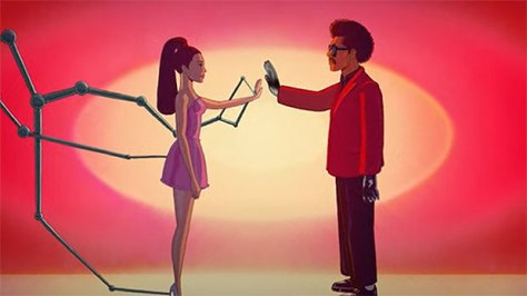 The Weeknd & Ariana Grande Transform Into Animated Characters For The 'Save Your Tears' Remix Video