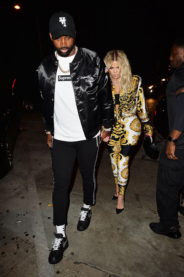 Khloe Kardashian & Tristan Thompson Go Alien Looking On ...