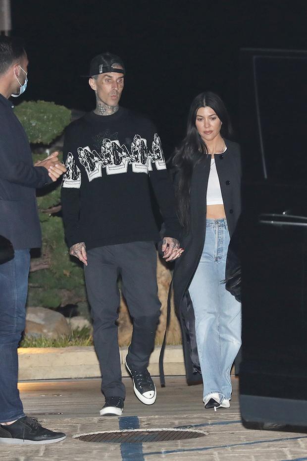 Kourtney Kardashian & Travis Barker Hold Hands On Date ...