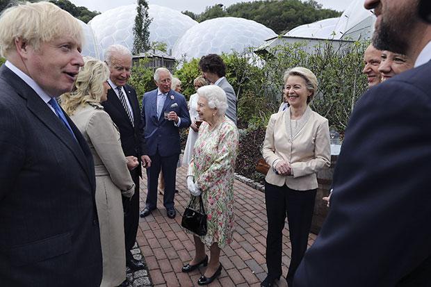Queen Elizabeth, Prince Charles, Joe Biden, Jill Biden