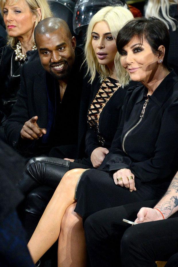 Kris Jenner, Kim Kardashian & Kanye West