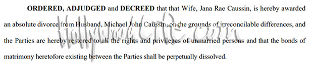 jana kramer and michael caussin divorce document