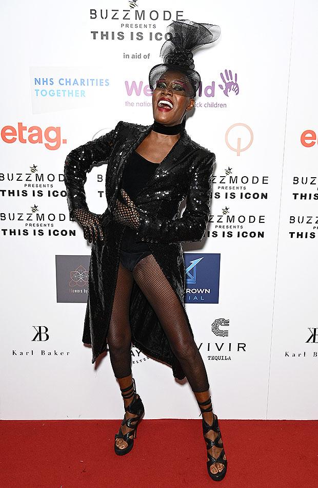 Grace Jones, 73, Rocks Sexy Bodysuit At Icon Ball During London Fashion Week — Photos