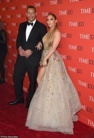 Alex Rodriguez, left, and Jennifer Lopez attend the Time 100 Gala celebrating the 100 most influential people in the world at Frederick P. Rose Hall, Jazz at Lincoln Center on Tuesday, April 24, 2018, in New York. (Photo by Evan Agostini/Invision/AP)