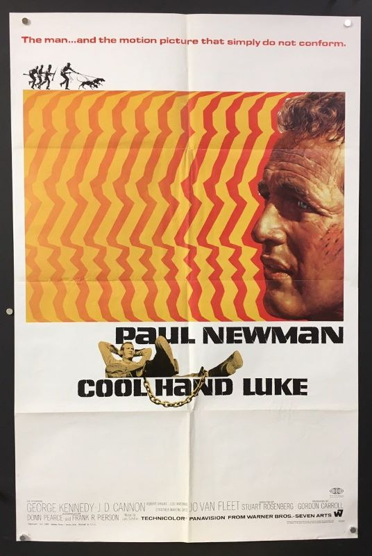 cool hand luke 1967 original one sheet movie poster