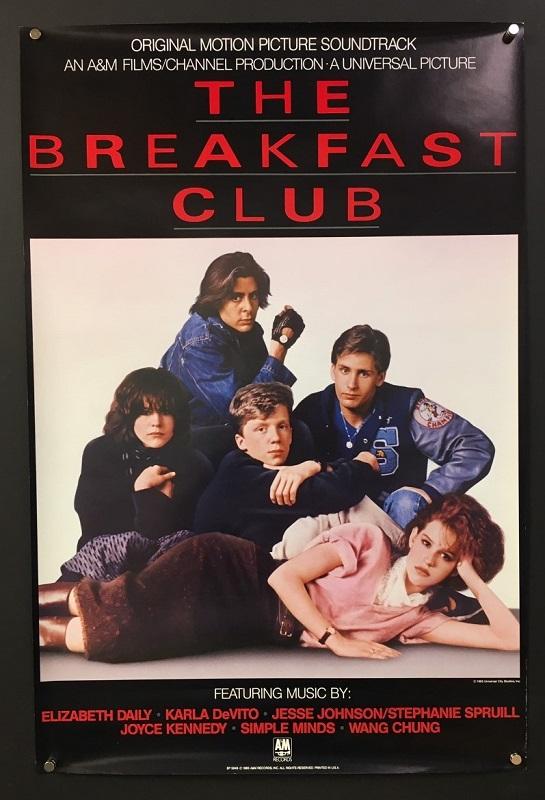 the breakfast club 1985 original soundtrack movie poster