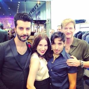 Dr. Pedram Navab, HPC's Vida G., Jared and his boyfriend Carlo Capomazza. Photo coutesy of HPC.