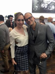 Fashionistas unite! Jenny Leeser with Charles Choukair