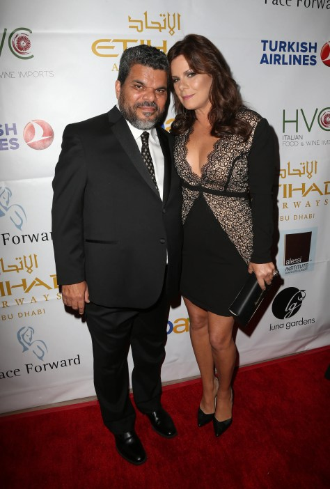 Noted actors Luis Guzman and Oscar winner Marcia Gay Harden