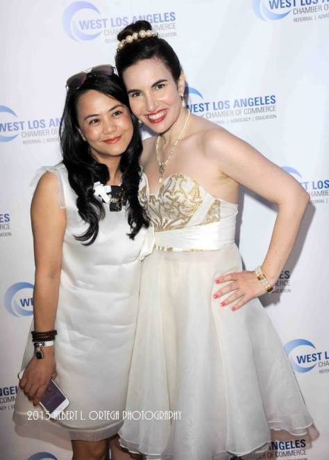 Vida with budding fashion designer Yuki Yim. Photo courtesy of Albert L. Ortega/GettyImages