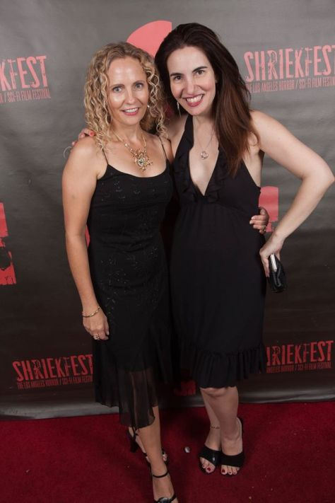 With Denise on the red carpet of Shriekfest